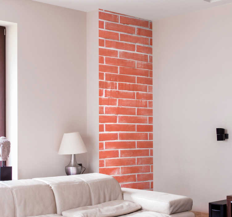 TENSTICKERS. レンガビニールプリント壁ステッカー. オリジナルの粘着レンガシートウォールステッカー。リビングルームや寝室の装飾に最適です。必要なサイズでご利用いただけます。