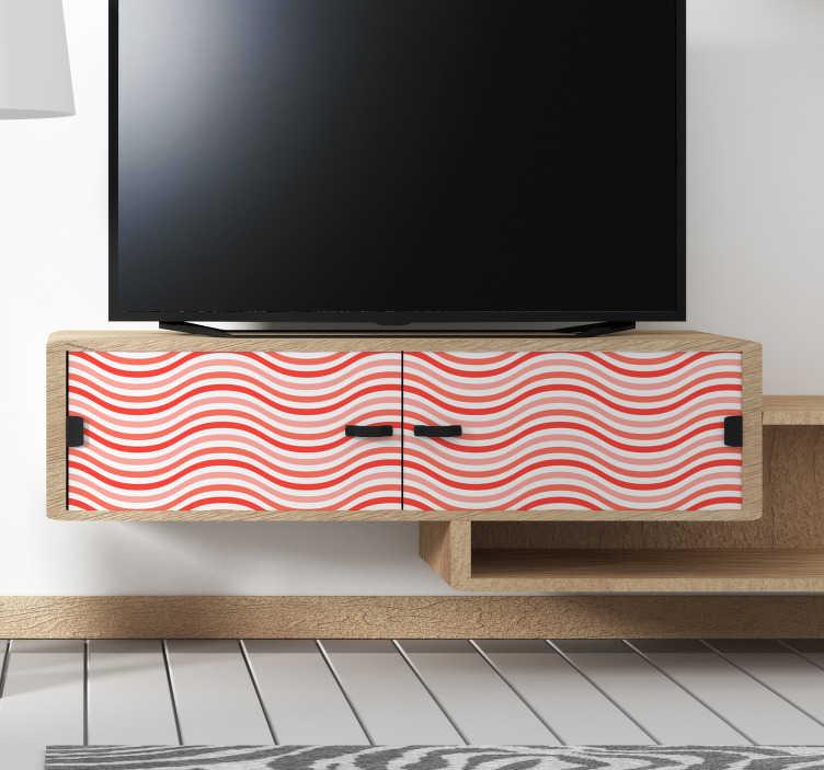 TenStickers. Sticker Meuble Ondes Coral. Découvrez comment vous pouvez décorer vos meubles avec notre sticker lignes pour une des pièces de votre maison. Qualité Garantie.