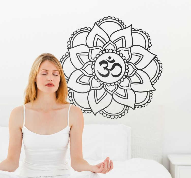 TenVinilo. Vinilo decorativo mandala para sala de yoga. Vinilo decorativo de mandala fácil de colocar para poner en sala de yoga y conseguir un estado zen y de equilibrio. Elige el color ¡Envío a domicilio!