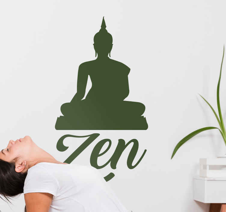 TenStickers. Zen Yoga Wall Art Sticker. Enhance your yoga or meditative experience with this glorious - and monocolour - wall art sticker! Extremely long-lasting material.