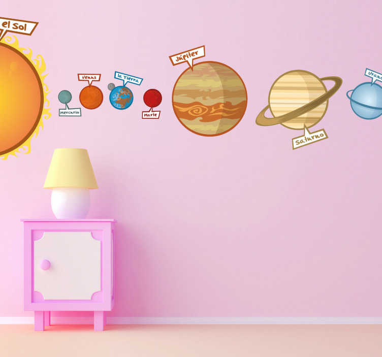 Children's Solar System Wall Sticker