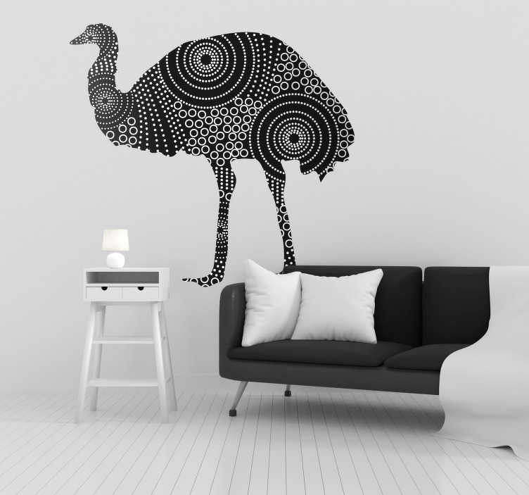 TenStickers. Emu Animal Wall Art Sticker. Pay tribute to the might of the Emu with this fantastic wall art sticker, depicting the glorious animal! Extremely long-lasting material.