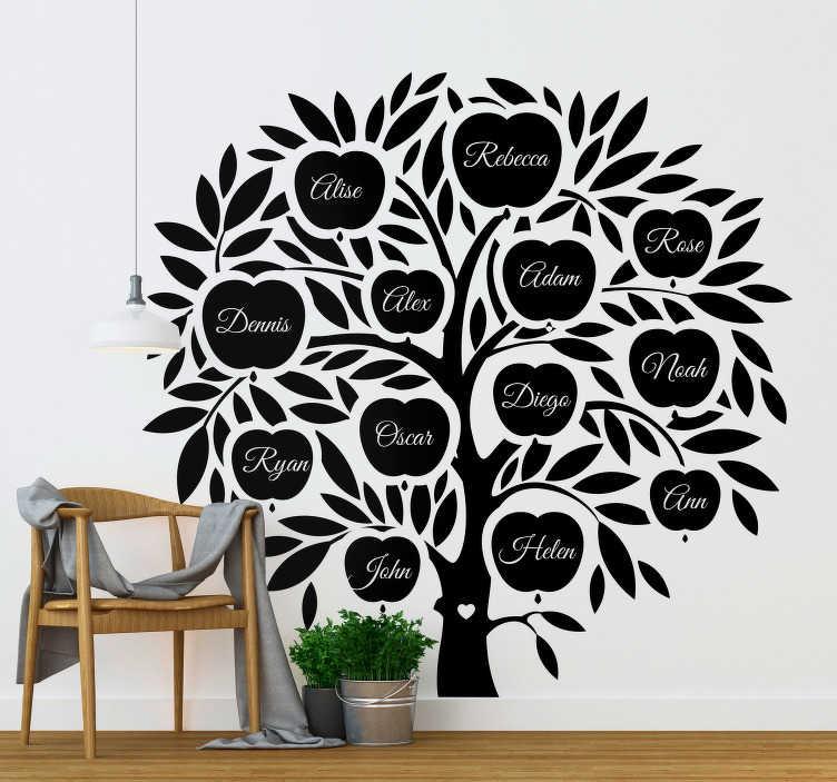 TenStickers. Sticker Maison Arbre Généalogique Noms. Découvrez comment vous pouvez décorer votre salon ou chambre avec un arbre de famille pour tout ses membres pour la déco. Service Client Rapide.
