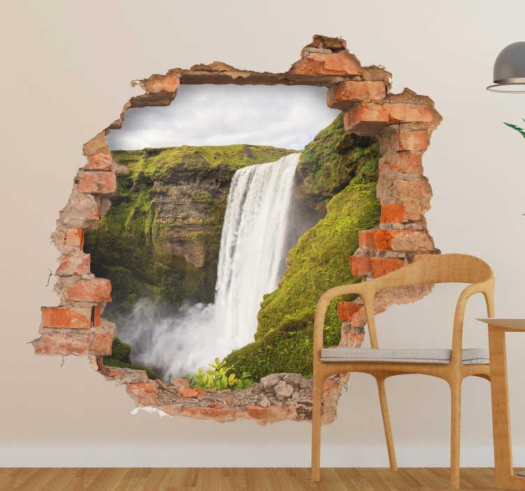 TenStickers. Sticker Trompe l Oeil Cascade. Découvrez comment décorer une des pièces de votre maison avec un sticker mural trompe l'oeil rien que pour vous. Qualité Garantie.