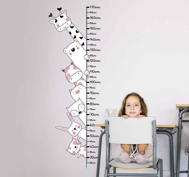 TenStickers. Sticker Chambre Enfant Toise Animaux Sauvages. Découvrez comment vous pouvez décorer votre chambre enfant avec notre sticker toise pour avoir un résultat et pose optimale. Qualité Garantie.
