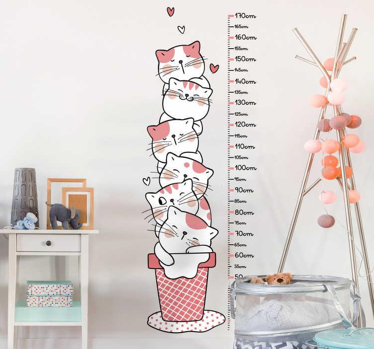 TenStickers. Sticker Chambre Enfant Mètres Chatons. Découvrez comment vous pouvez décorer la chambre de votre enfant avec notre sticker mediateur pour une déco parfaite. Livraison Rapide.