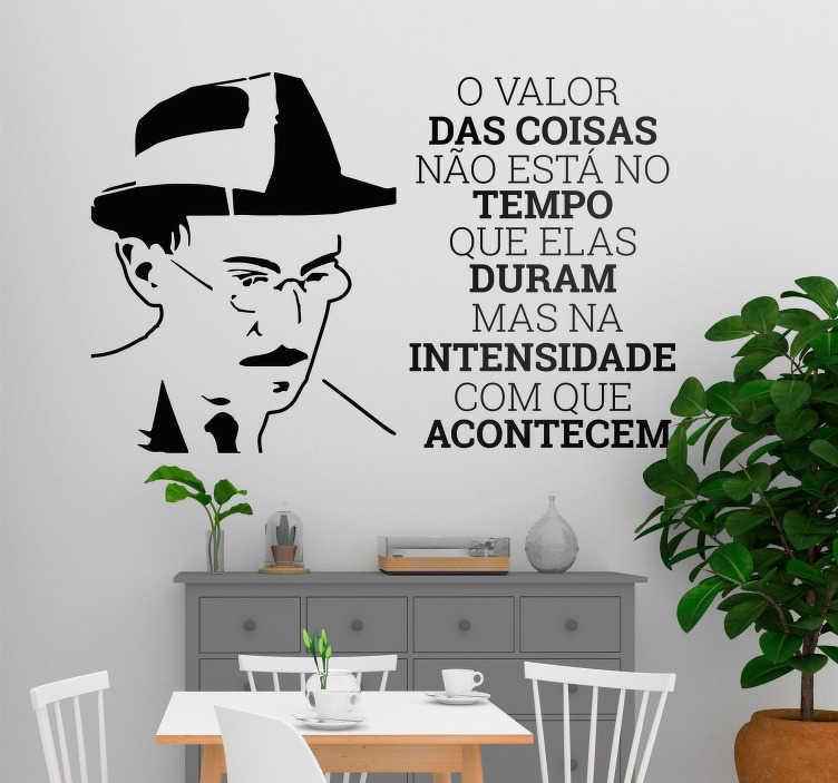 Autocolantes Textos Frase Fernando Pessoa Tenstickers