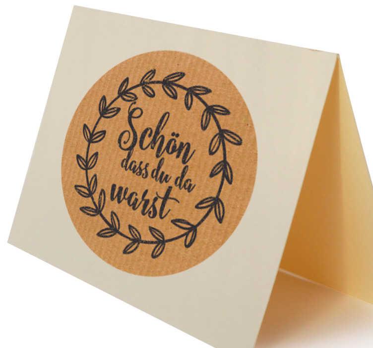 TenStickers. Sticker Hochzeit Dankkarte. Eine nette Dankeskarte mit hochwertigem Vinylsticker. Unsere Sticker sind erhältlich in unterschiedlichen Farben und Größen.