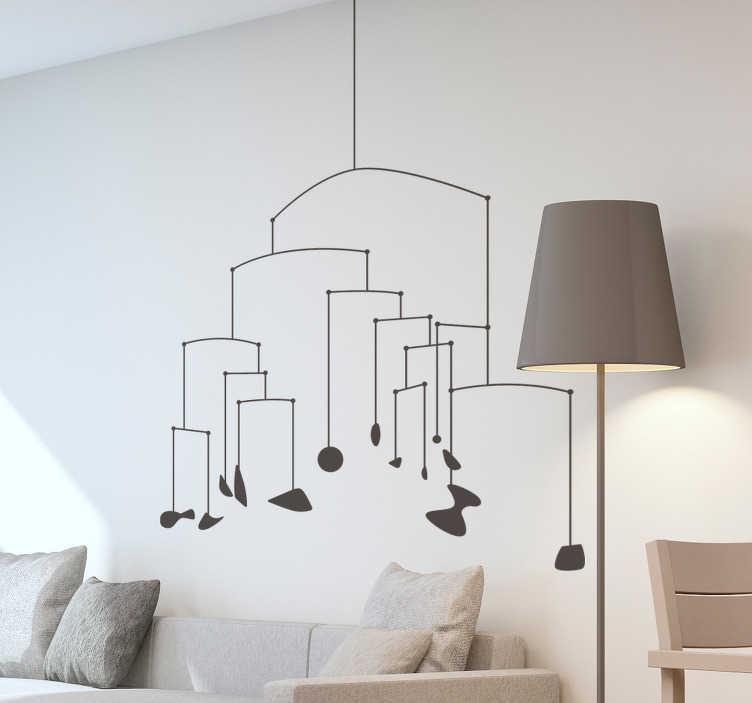 TenVinilo. Vinilo pared adorno minimalista. Original vinilo adhesivo minimalista formado por la ilustración de la escultura móvil de Alexander Calder. Vinilos Personalizados a medida.