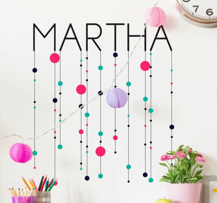 Tenstickers. Geometriset minimalistiset hahmot seinätarra. Koristeellinen värikäs geometrinen seinä tarra lasten makuuhuoneen sisustamiseen, joka on suunniteltu geometrisilla hahmoilla. Se on muokattavissa mihin tahansa haluttuun nimeen.