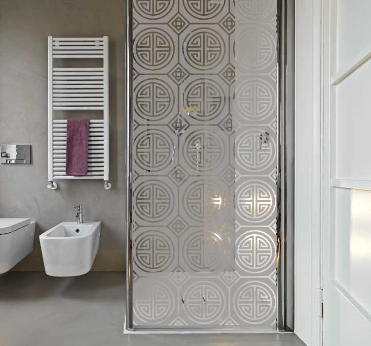TenStickers. Japanese minimalism (partition) shower screen sticker. Japanese partition shower screen sticker to decorate the door in the bathroom space . Available in any required size and in different colour options.