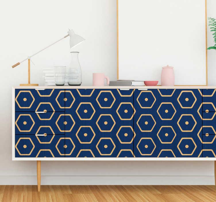 TenStickers. Vinil autocolante para móveis padrão geométrico. Adesivos autocolantes de figuras geométricas ideal para decorar a sua sala de estar ou até mesmo quarto. Medidas personalizáveis.