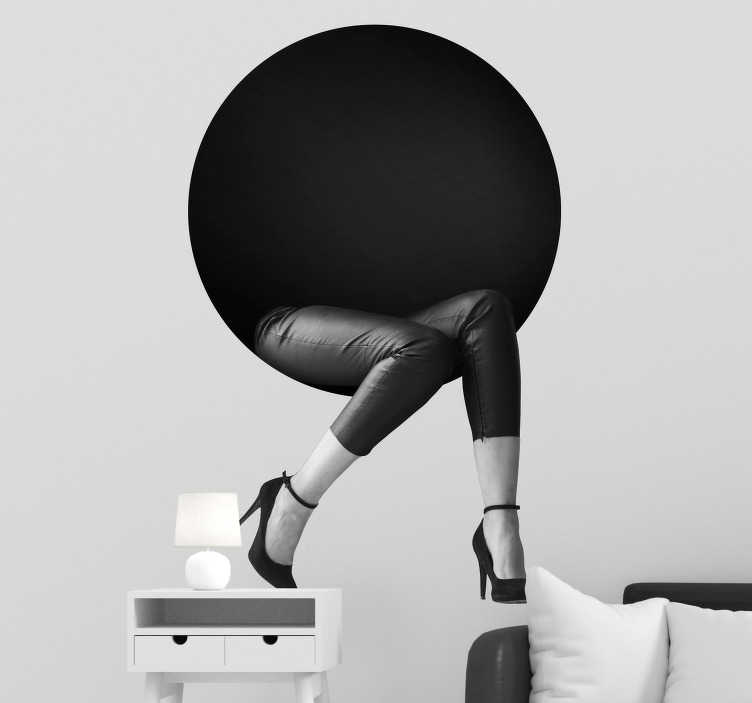 TenStickers. 3D Circle and Legs Wall Sticker. Add a trompe l´oeil style sticker to your home with this fantastic visual effects inspired wall sticker! Anti-bubble vinyl.