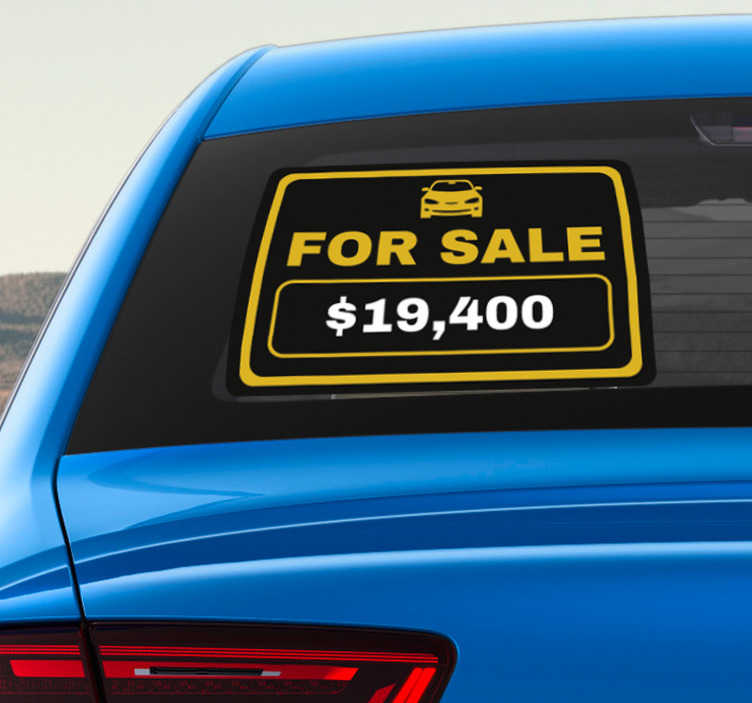 TenStickers. Car for Sale Window Sticker. Draw attention to the fact that you are now selling your car with this superbly useful car window sticker! Easy to apply.