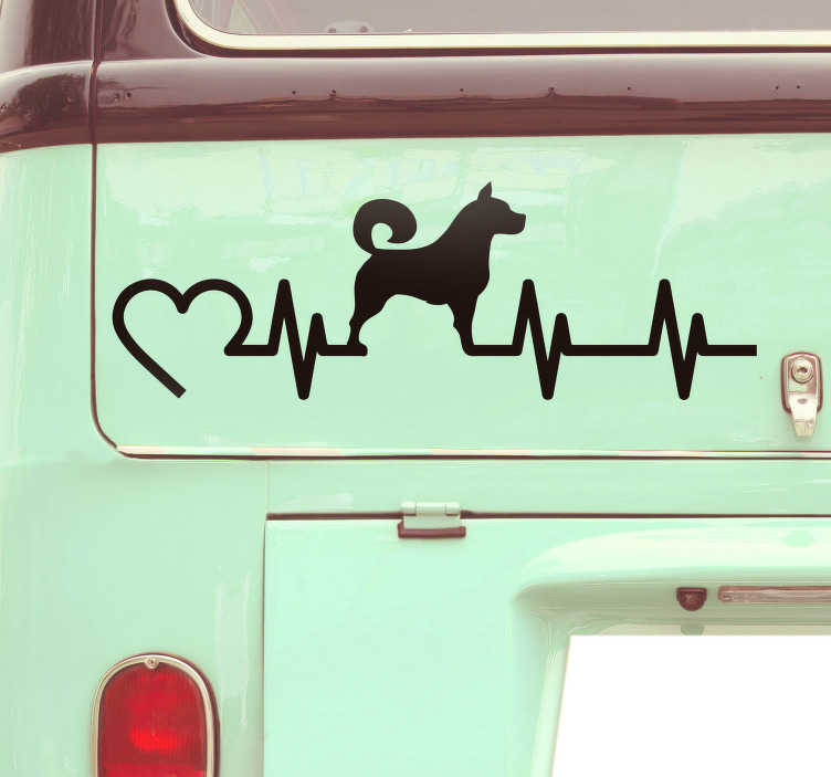 TenStickers. Electrogram Dog Car Sticker. Add an electogram themed dog to your vehicle with this superb dog themed dog themed vehicle sticker! Extremely long-lasting material.