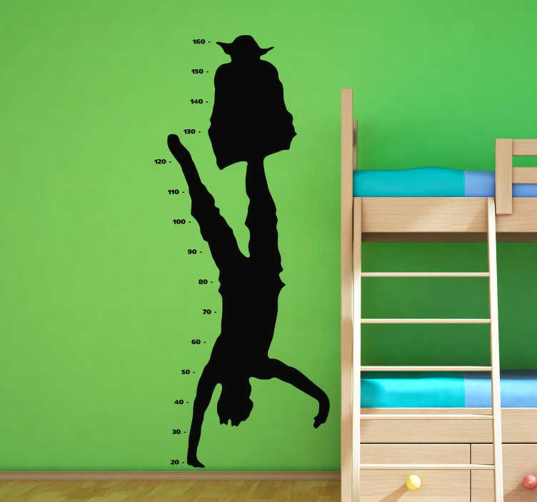 TenStickers. Star Wars Character Height Chart Wall Sticker. Add some Star Wars themed height chart decor to the wall of your child´s bedroom with this fantastic height chart sticker! Anti-bubble vinyl.