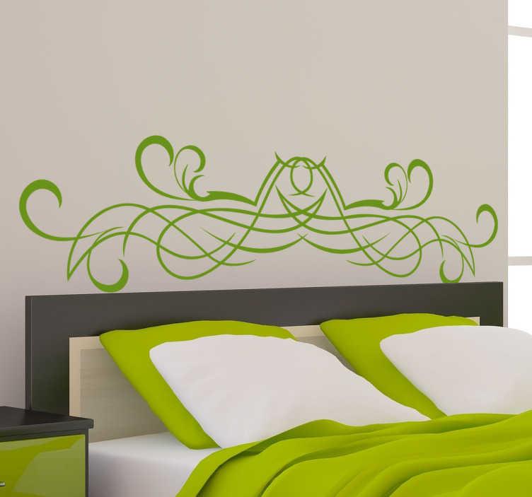 TenStickers. Sticker tête de lit élégant. Stickers mural idéal pour décorer élégamment la tête du lit dans votre chambre. Traits arrondis entrelacés.Sélectionnez les dimensions et la couleur de votre choix.Idée déco originale et simple pour votre chambre.