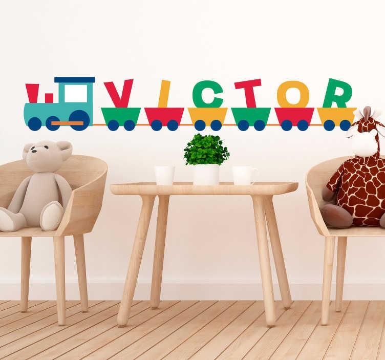 TenStickers. Sticker Chambre Enfant Texte Prénom. Pour décorer la chambre de votre enfant de façon unique, rien de tel que ce sticker mural chambre d'enfant, personnalisable selon son prénom.