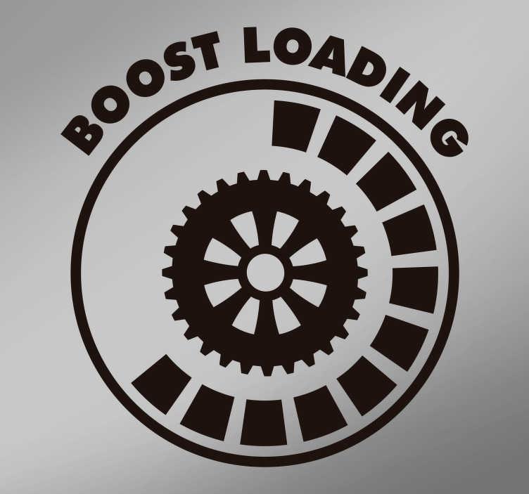 TenStickers. Autocollant Voiture Dessin Boost Loading. Préparez-vous à accélérer à tout moment avec cet autocollant de voiture tuning, parfait pour tout type de voitures, motos ou caravanes !