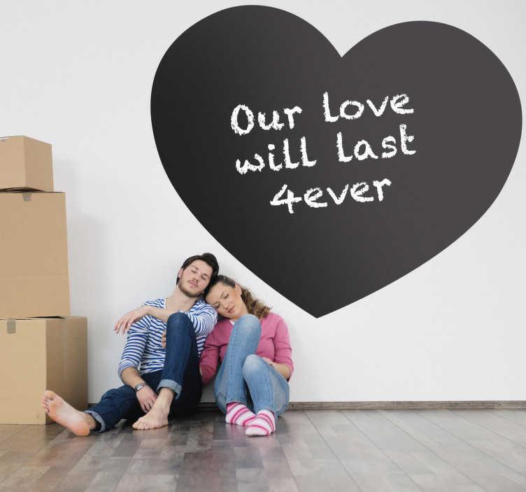 TenStickers. Vinil quadro preto coração. Vinil decorativo para a sua parede com o símbolo clássico do amor.