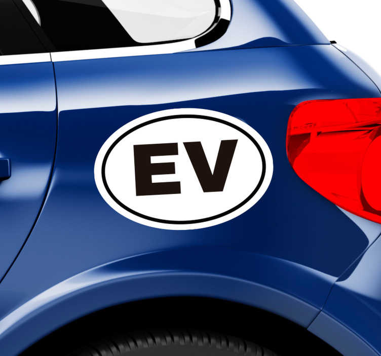 TenStickers. Autocollant Voiture Logo Voiture Éléctrique. Ça vous tente de frimer un peu sur l'autoroute avec votre voiture éléctrique ? Optez pour ce sticker signalétique voiture tuning