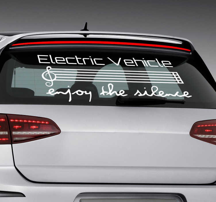 TenStickers. Electric Vehicle Car Sticker. Promote the silence provided by an electric car with this fantastic - and monocolour - electric car sticker! Choose your size.