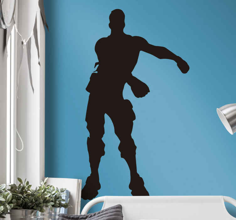 TenStickers. Fortnite dance silhouette video game wall sticker. So who in the world doesn't know about the fun and entertaining fortnite dances? If you are a fan then why not decorate with this fortnite sticker?