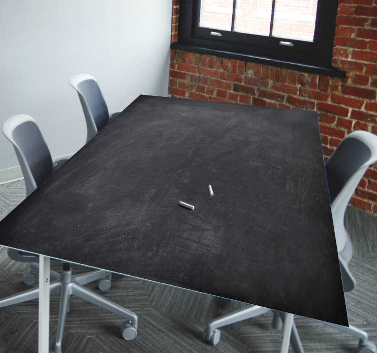 TenStickers. Chalkboard Piece Table Sticker. Decorate your business table with this fantastic chalkboard sticker, perfect for important business meetings! Choose your size.