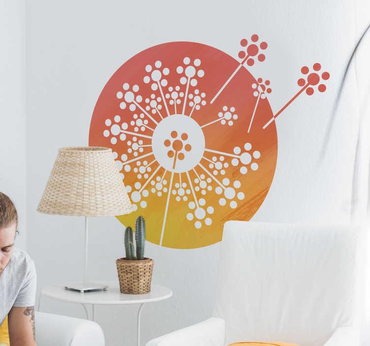 TenStickers. Sticker Texture Dessin de Pissenlit. Cet adhésif fleur de pissenlit au style mandala donnera à votre maison une touche de sérénité et d'originalité inégalable.