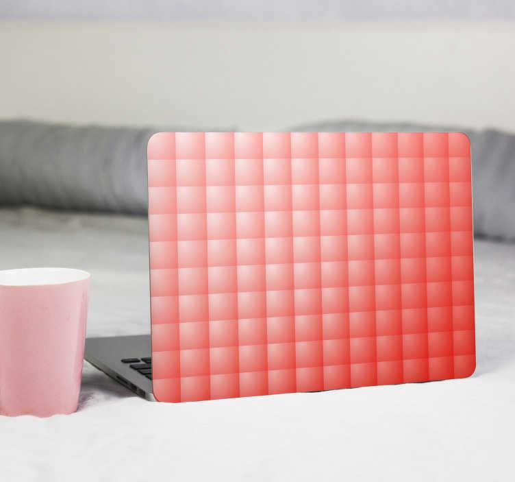 TenVinilo. Vinilo para pc patrón living coral. Original pegatina para portátil o tablet formada por el diseño de una lámina cuadriculada en tonos Living Coral. Descuentos para nuevos usuarios.