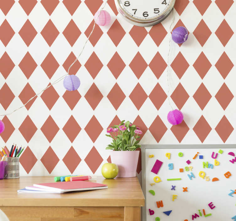 TenStickers. Sticker de Formes Losanges. Pour embellir vos murs de façon classique mais efficace, rien de tel que ce sticker pour mur géométrique composé de plusieurs losanges