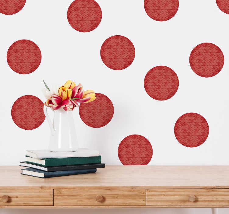 TenVinilo. Vinilo pared topos circulares living coral. Original patrón adhesivo formado por 20 topos en tonos Living Coral ideales para decorar y renovar una estancia. Descuentos para nuevos usuarios.