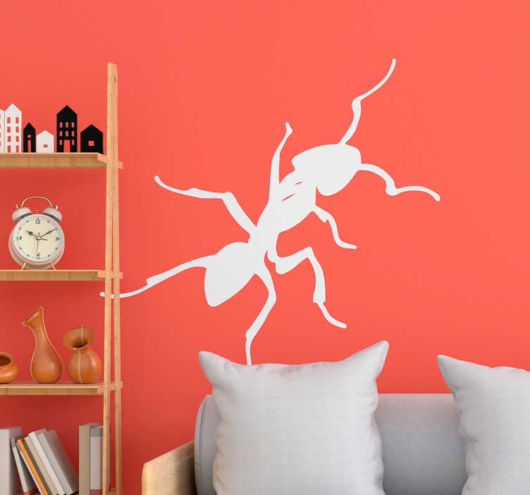 Tenstickers. Muurahaisten kuva hyönteisten seinä tarra. Havainnollistava muurahaisten hyönteisten seinätarra kodin, koulun tai liiketilan koristamiseksi. Saatavana eri väreinä ja kokoina.