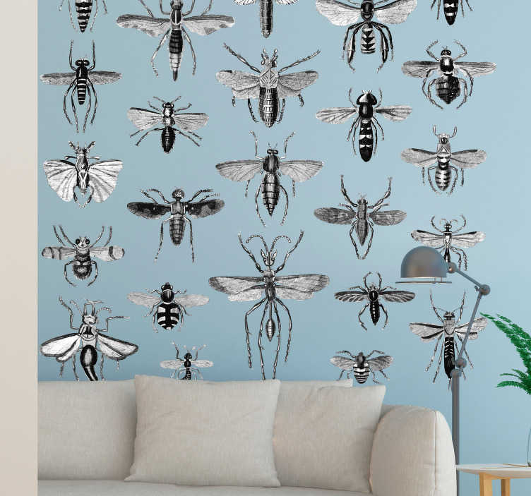 TenStickers. Flying Insects Wall Decal. Decorate your wall with this fantastic animal wall sticker, depicting all different types of insect! Extremely easy to apply.