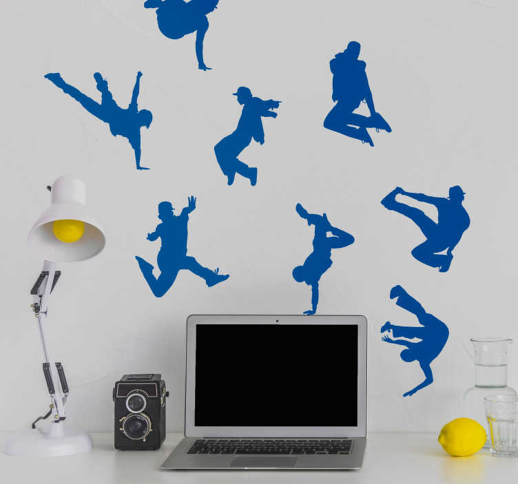 TenStickers. Urban Dance Wall Art Sticker. Showcase your love for dance with this fantastic collection of urban dance themed wall silhouette stickers! Discounts available.