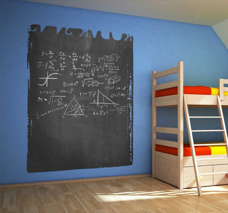 TenStickers. Naklejka tablica miejsca ściana. Naklejka dekoracyjna w postaci tablicy kredowej! Stwórz dzieciom ścianę, na której bez obaw będą mogły prezentować swoje talenty malarskie.