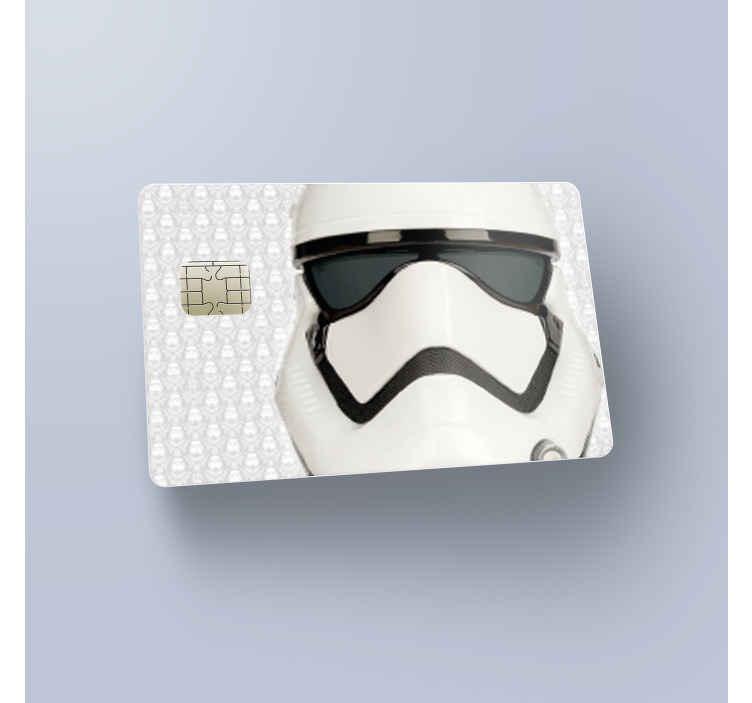 TenStickers. Stickers voor creditcard Starwars stormtrooper. Een leuke en coole star wars creditcard sticker. Geniet van winkelen met creditcard accessoires. Onze star wars stickers zijn voor iedere fan!