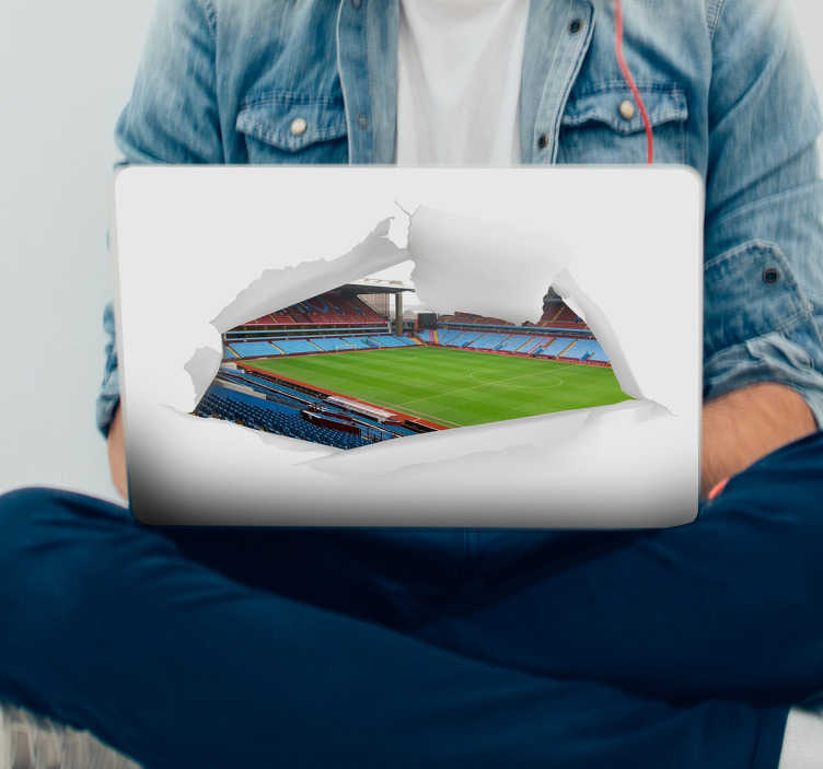TenStickers. Laptop sticker villa park stadion. Leuke Villapark voetbalstadion sticker. Een 3d voetbal sticker, een ideale 3d laptop sticker en voetbal laptop stickers: Laptop sticker voetbal!