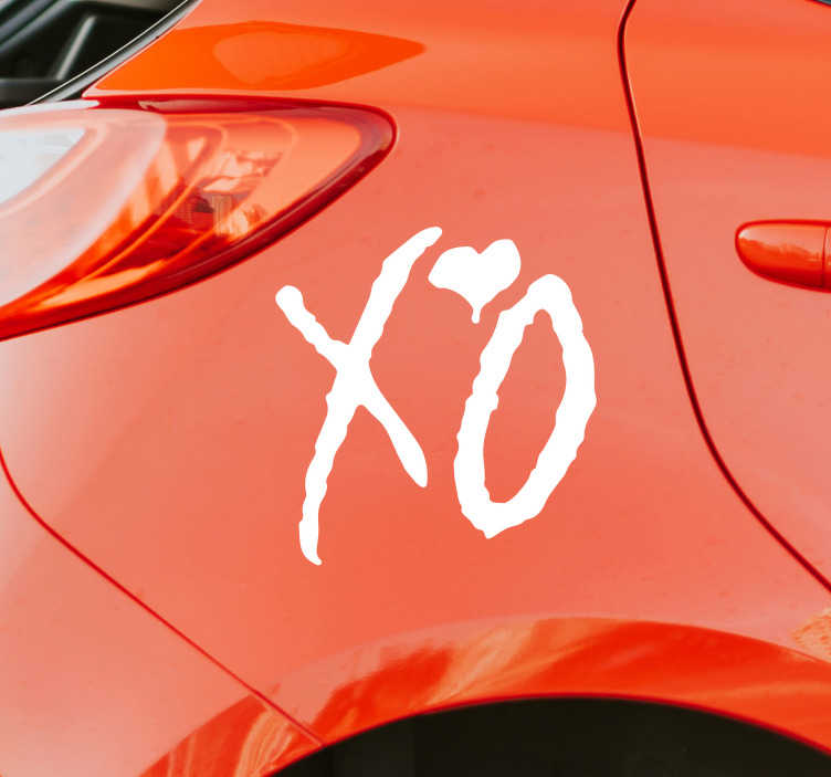 TenStickers. XO Brand Logo Vinyl Sticker. XO is the label of one of the biggest superstars in the music world, and if you love the Weeknd as much as we do then this logo sticker is ideal!