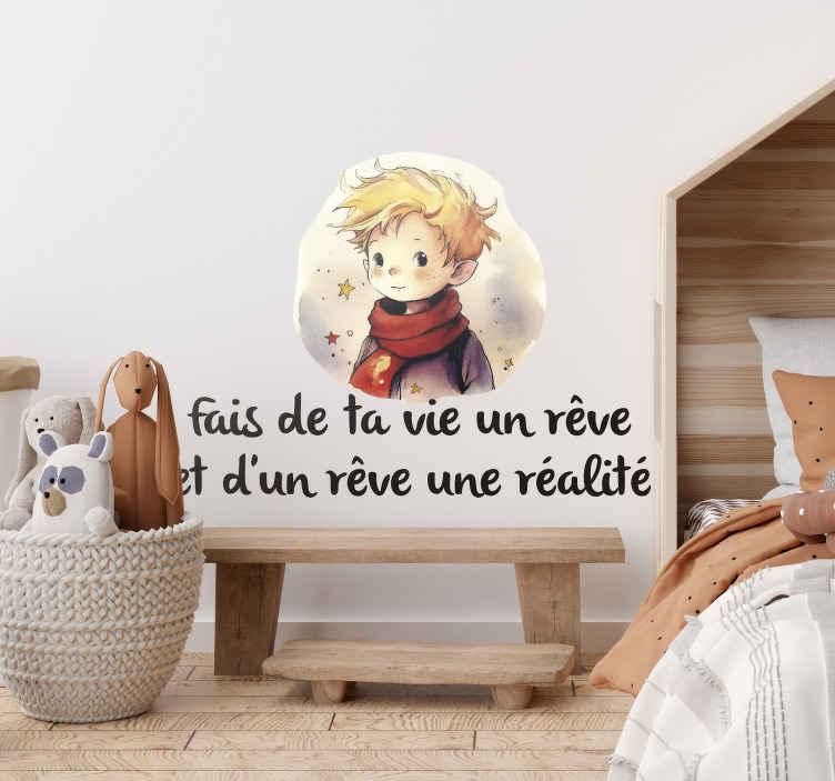 TenStickers. Sticker Maison Citation Le Petit Prince. Incontournable pour un peu de douceur à la chambre de son enfant, ce sticker conte Petit Prince parlera même aux adultes !