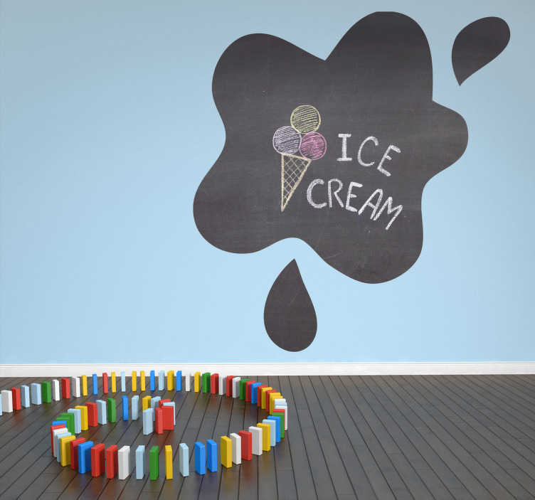 TenStickers. Splash Outline Blackboard Sticker. A fantastic blackboard decal illustrating a splash of paint. This wall sticker is perfect to drawn on and decorate your child's room.