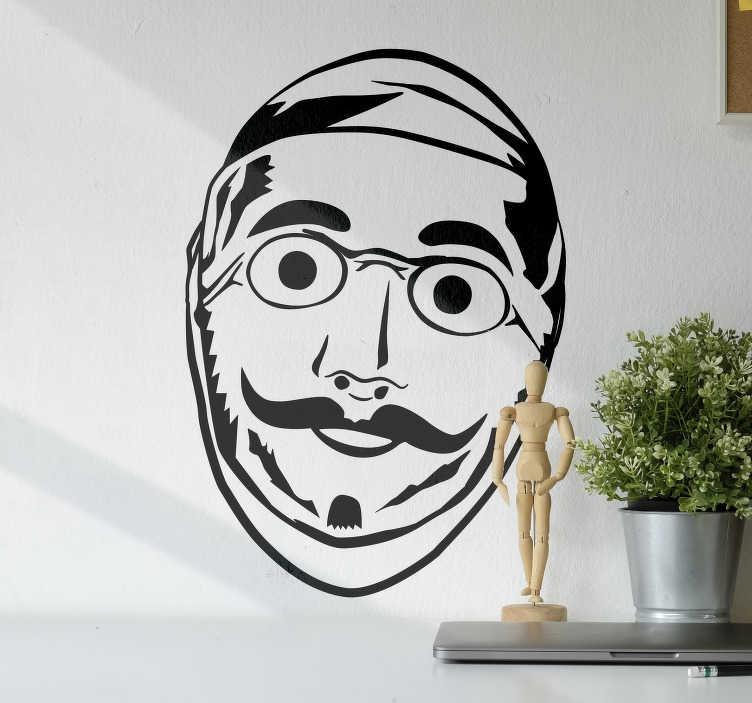 TenStickers. Sticker Maison Carnaval de Binche. Pour vous préparer comme il se doit au Carnaval de Binche annuel, munissez-vous de votre masque et de ce sticker mural original au design unique !