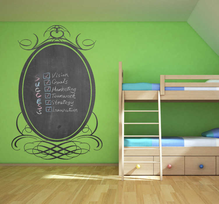 TenStickers. Classic Frame Blackboard. Blackboard sticker - Ideal for children. Original and simple idea for kids decor.