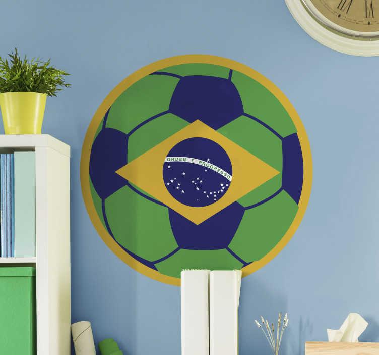 TenStickers. Autocolantes com desenhos bandeira futebol. Autocolante decorativo com desenhos. Ideal para os verdadeiros amantes deste tão famoso desporto. Adesivos com desenhos coloridos.