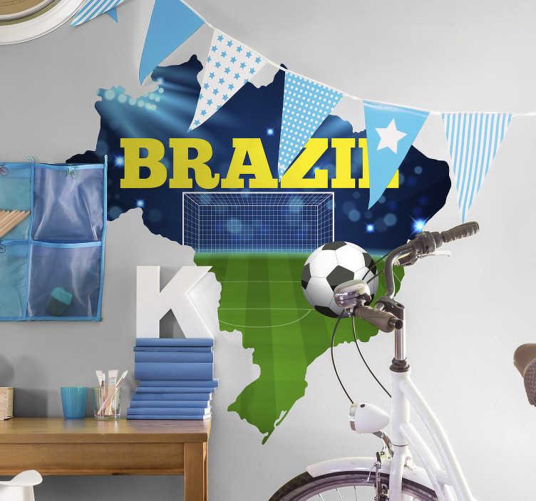 TenStickers. Autocolante com fotomurais mapa futebol. Autocolantes decorativos foto murais ideais para decorar as suas paredes, um processo muito fácil e rápido de transformar a sua casa.