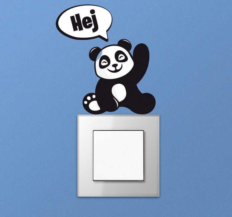 TenStickers. Naklejka pod kontakt Panda na kontakt. Chcesz mieć niezwykłe dekoracje w domu? Zastanawiasz się, jak ozdobić pokój dziecięcy? Sprawdź naklejki na kontakt z pandą! Codziennie nowe projekty!