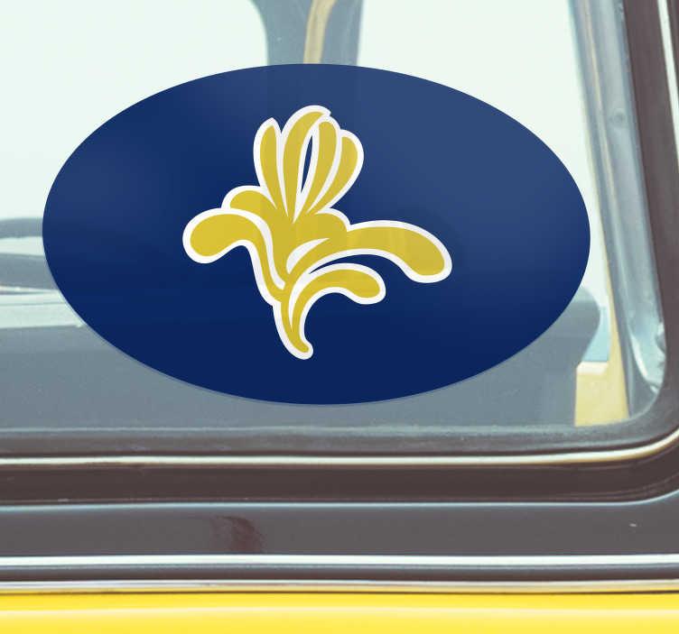 TenStickers. Autocollant Voiture Symbole Bruxelles. Si vous êtes fier d'être bruxellois, ce sticker voiture tuning est fait pour vous ! Montrez vos couleurs, grâce à ce sticker tuning original !