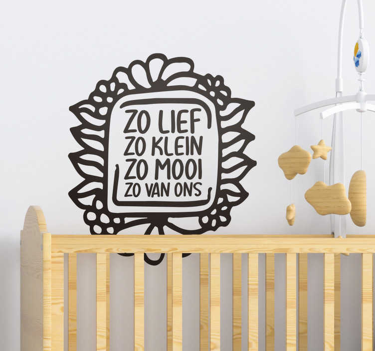 TenStickers. Muurstickers babykamer babykamer tekst. Sticker baby en Babykamer tekst muursticker is een leuk en origineel cadeau voor baby showers! Muursticker babykamer tekst en baby tekst stickers!