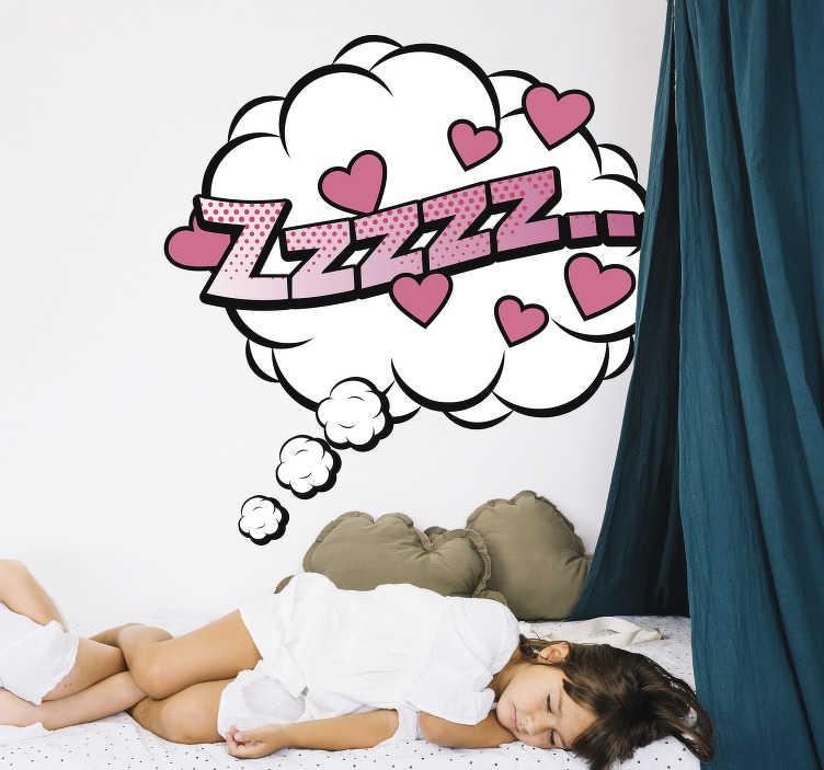 TenStickers. Sticker Chambre Enfant Faîtes de beaux rêves. Un sticker pour chambre d'enfant au style bande dessinée qui ne pourra que lui donner envie de dormir et de faire de beaux rêves !