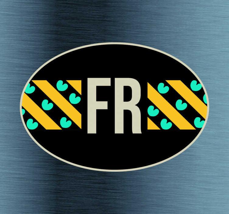 TenStickers. Auto stickers Vlag Friesland. Vlag autostickers en Provincie vlag Autostickers  voor auto's ruiten en bumpers: Friesland vlag sticker en Friesland autostickers en friesland sticker.